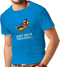 lepni.me T Shirts for Men Be Lazy Funny Quote