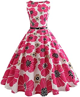 d15bf0d9b04 JJHR robe de soiree Vintage Swing Dress Femmes D Été Casual Midi Robes  Élégante Robe
