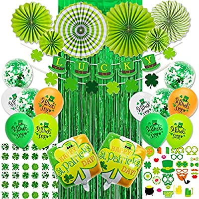 St Patricks Day Decorations with Latex Confetti...