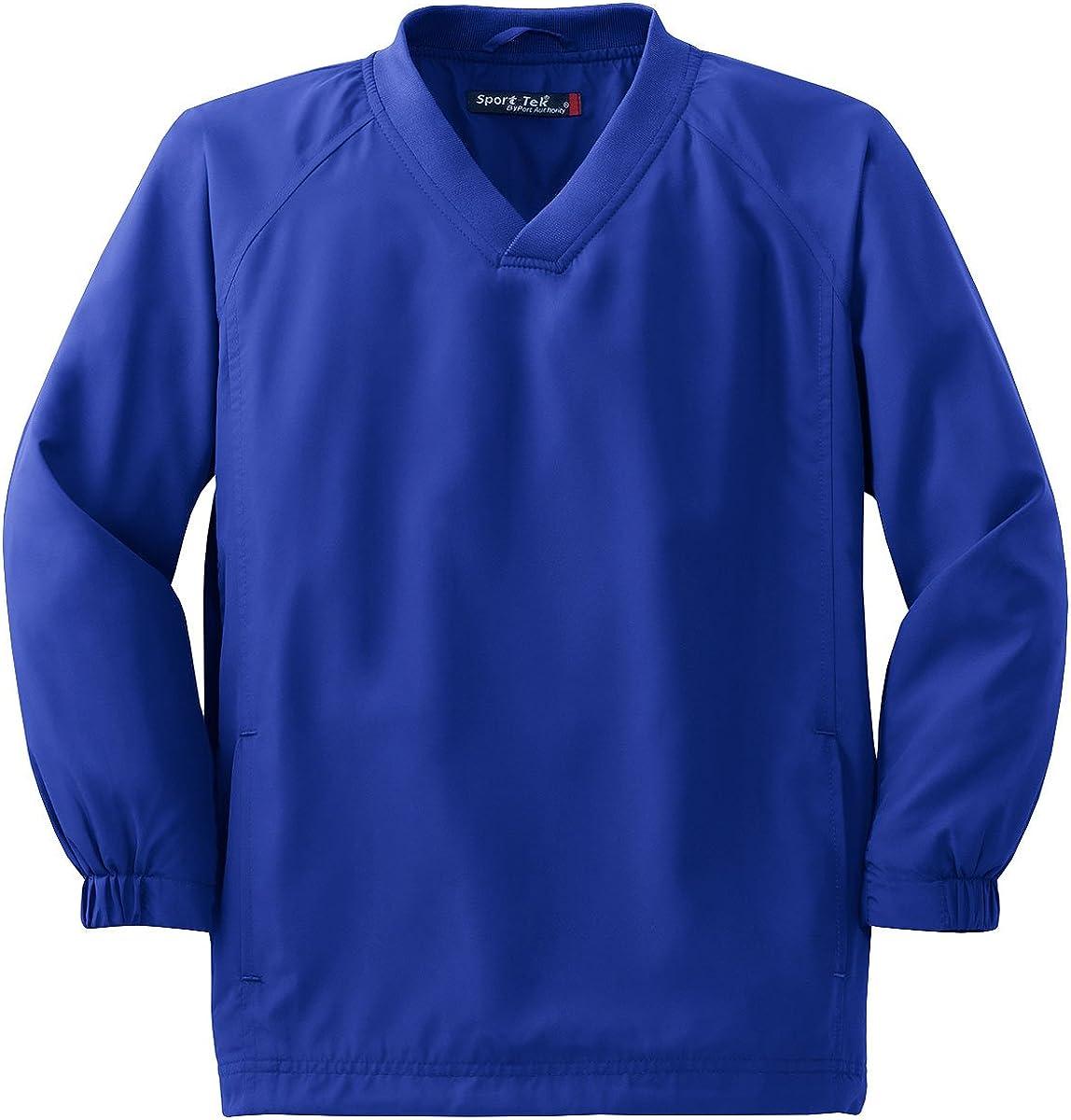 YST72 Youth V-Neck Raglan Wind Shirt True Royal L