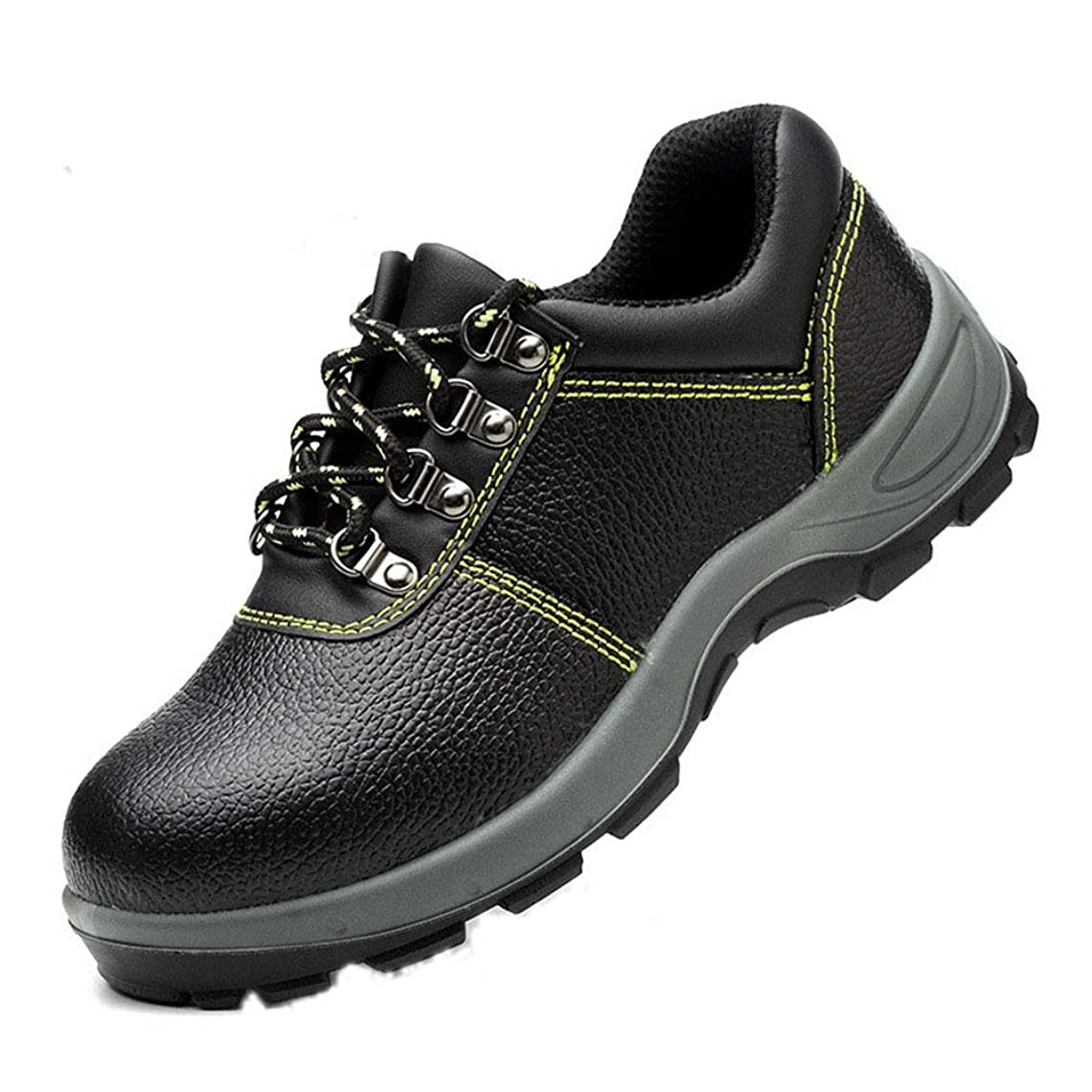 毎日奇跡カナダ作業靴 安全靴 厨房靴 メンズ 紐タイプ 耐酸 耐アルカリ 耐油 滑り止め加工 先芯入り つま先保護 おしゃれ かっこいい コンフォート 四季通用 踏み抜き防止 アンチショック アウトドア パンチング加工