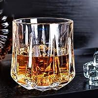 Syanka Big Whiskey Glasses Set of 6, Clear, 360 ml, Drinking Whisky Glass