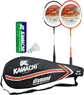 Kamachi Blast Diamond Aluminum Badminton Combo (Multicolor)