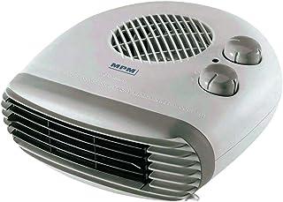 MPM MUG-10 Calefactor eléctrico portátil de aire frío caliente, 2 niveles de potencia, sistema de seguridad 1000W/2000W