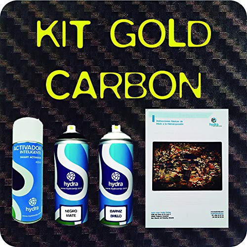 Hydro Dipping KIT Carbon Fiber GOLD HFC-098 HYDROGRAPHICS - Water Transfer Printing