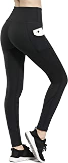 HOFI Women Yoga Pants with Pockets High Waist Workout Leggings with Tummy Control 4 Way Stretch Running