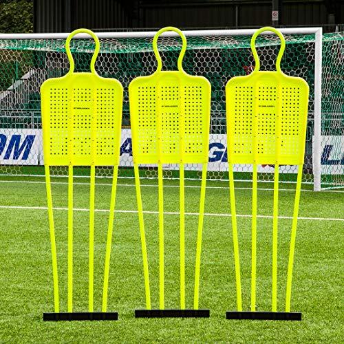 FORZA Fußball Freistoß-Dummies für Fußball Training - Diese Freistoß Dummies sind in 3 Größen erhältlich, 1,2m (Kinder), 1,6m (Jugend) & 1,8m (Erwachsene) (3er-Set, Mini)