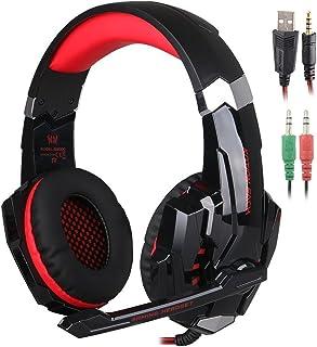 SENHAI G9000 3.5mm Game Gaming Headphone Headset Earphone Headband with Microphone LED Light for Computer Tablet Mobile Ph...