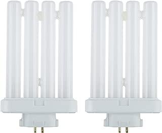 Sunlite Series FML27/65K/2PK Fluorescent 27W 6500K Daylight Quad Tube FML CFL Plugin Light Bulbs, 4-Pin GX10Q-4 Base, 2 Pack, 6500K-Daylight