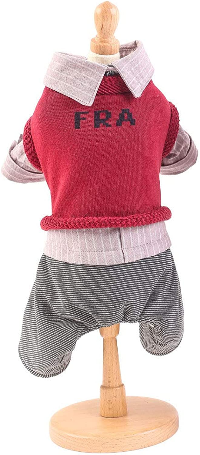 Puppy Knit Apprel Sweater Pet Dog Sweater Warm Winter Puppy Pet Coat Soft Sweater Clothing for Small Dogs, Red, XS
