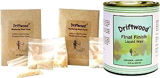 Bundle Driftwood Weathering Wood Finish 2 Pak and Driftwood Finish Liquid Wax