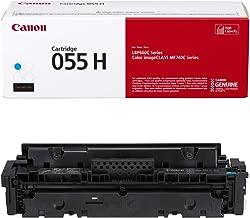 Canon Genuine Toner, Cartridge 055 Cyan, High Capacity (3019C001) 1 Pack, for Canon Color imageCLASS MF741Cdw, MF743Cdw, MF745Cdw, MF746Cdw, LBP664Cdw Laser Printers