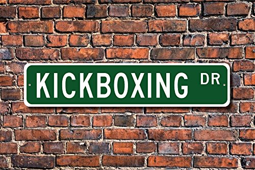 Kickboxing, Kickboxing Sign, Kickboxing Fan, Kickboxing Participant Gift, International Sport, Custom Street Sign, Quality Metal Sign Decorative Metal Novelty Street Sign Gift Wall Sign 8x30 CM