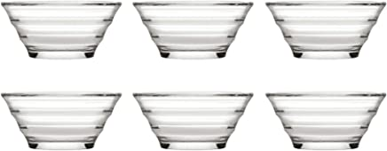 Preisvergleich für Pasabahce 53932 Gastroboutique - 6er Set Mini-Schüssel aus Glas (Ø 8,2 cm), Glas-Schälchen, Dipschale, Dessertschale, Mezeschale, Tapasschale, 6 Stück
