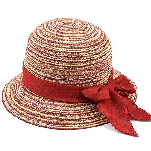 ZHongWei Sommer Hut, Sonnenhut Frauen Sommer ältere Menschen Baumwolle Garn Sonnencreme Faltbare atmungsaktiv, 5 Farben optional Sonnenhut (Color : 1#)