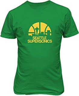 Seattle Supersonics Basketball Print Mens Casual T-Shirts