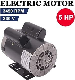 5 HP SPL 3450RPM Single Phase Electric Air Compressor Motor, 56 Frame 5/8