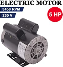 5 HP SPL 3450RPM Single Phase Electric Air Compressor Motor, 56 Frame 5/8