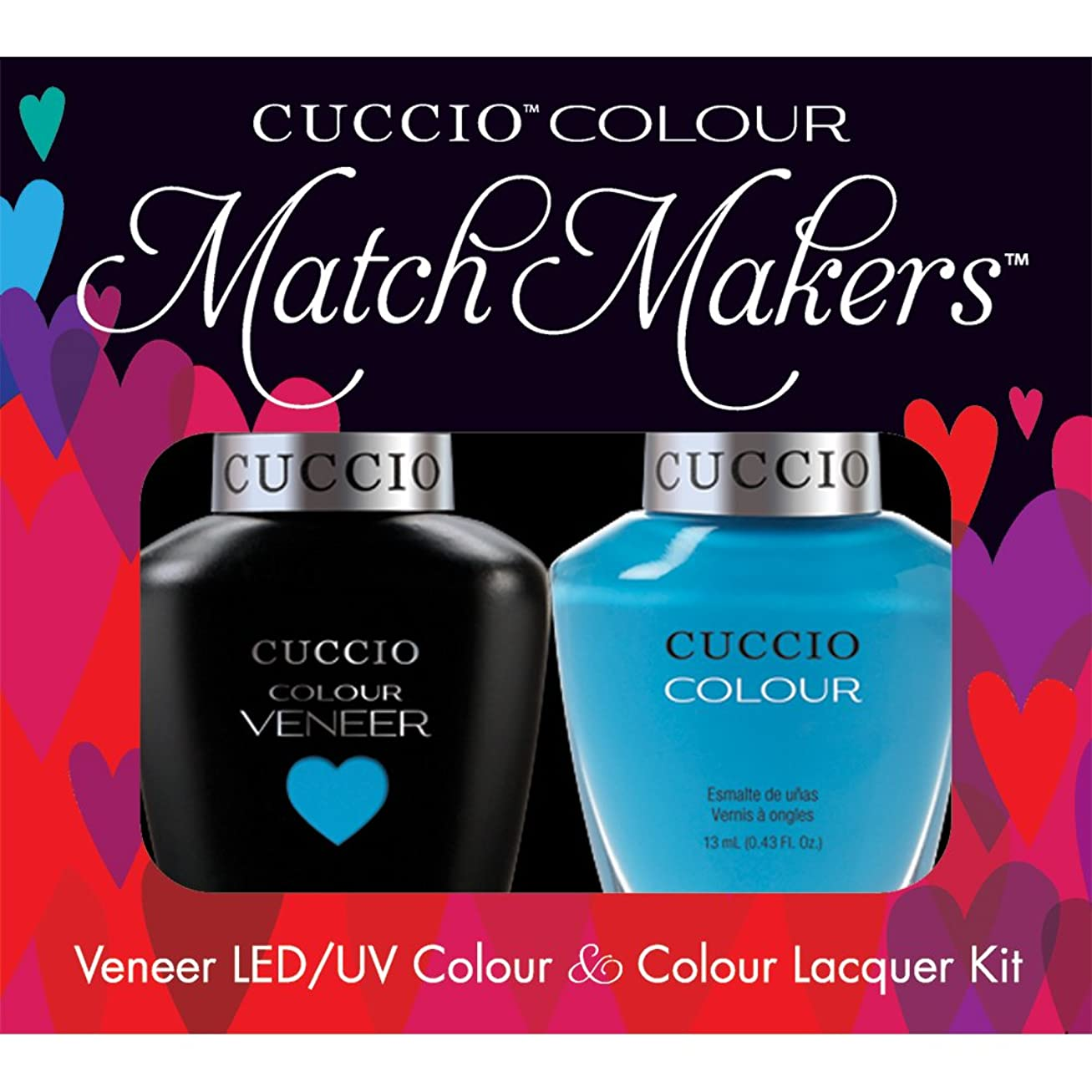 拘束する競うまだらCuccio MatchMakers Veneer & Lacquer - St. Bart's in a Bottle - 0.43oz/13ml Each