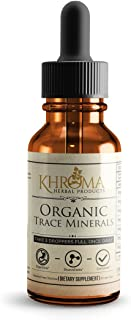 Sponsored Ad - Organic Trace Minerals - by Khroma Herbs - 2 oz Liquid Plant-Based Trace Mineral Blend - Designed for Maxim...