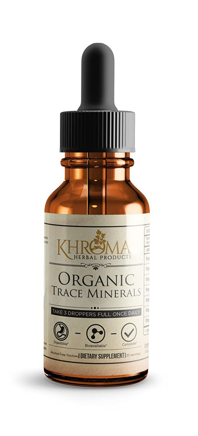 Organic Trace Minerals - by Khroma Herbs - 2 oz Liquid Plant-Based Trace Mineral Blend - Designed for Maximum Absorption - 30 Servings