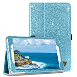 BENTOBEN Case for Samsung Galaxy Tab A 8.0 Case 2019, Slim Fit Glitter Sparkly Flip Folio PU Leather Stylus Holder Kickstand Protective Smart Cover for Samsung Galaxy Tab A8 2019, Deep Blue