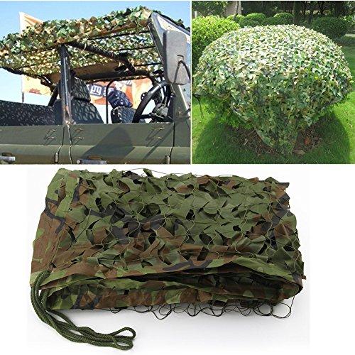 2 X 3m Woodland Filets de Camouflage Militaire Tactique Pour Camping Chasse Tournage Vert