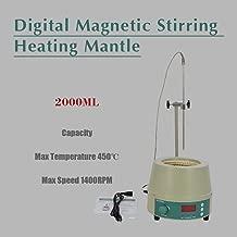 2000ml Electric Digital LCD Magnetic Stirring Heating Mantle 842℉ 450W 0-1400prm