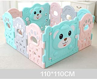 Teppichks Baby Fence Children Indoor Home Baby Toddler Game Fence Fence Child Crawling Mat Fence  Size 110CM 110CM