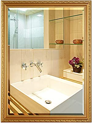 Amazoncom Mirror Rectangular Bathroom With Border Makeup