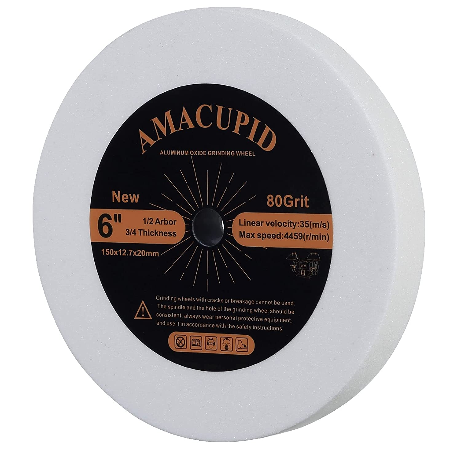 AmaCupid 6 Ranking TOP10 inch White Aluminum Oxide Wheel Ar Grinding 1 Max 53% OFF 2 Bench