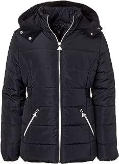 Girls' Velvet Lined Hooded Puffer Jacket