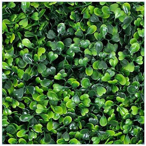 Vallas decorativas Inicio Jardín Decoración de pared exterior, 50 '' x 50 '' Protección UV artificial Topiary Planta de cobertura valla de privacidad de pantalla Paneles Verdor fácil de cortar e insta