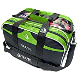 Pyramid Path Double Tote Plus Clear Top Bowling Bag (Holds Shoes)