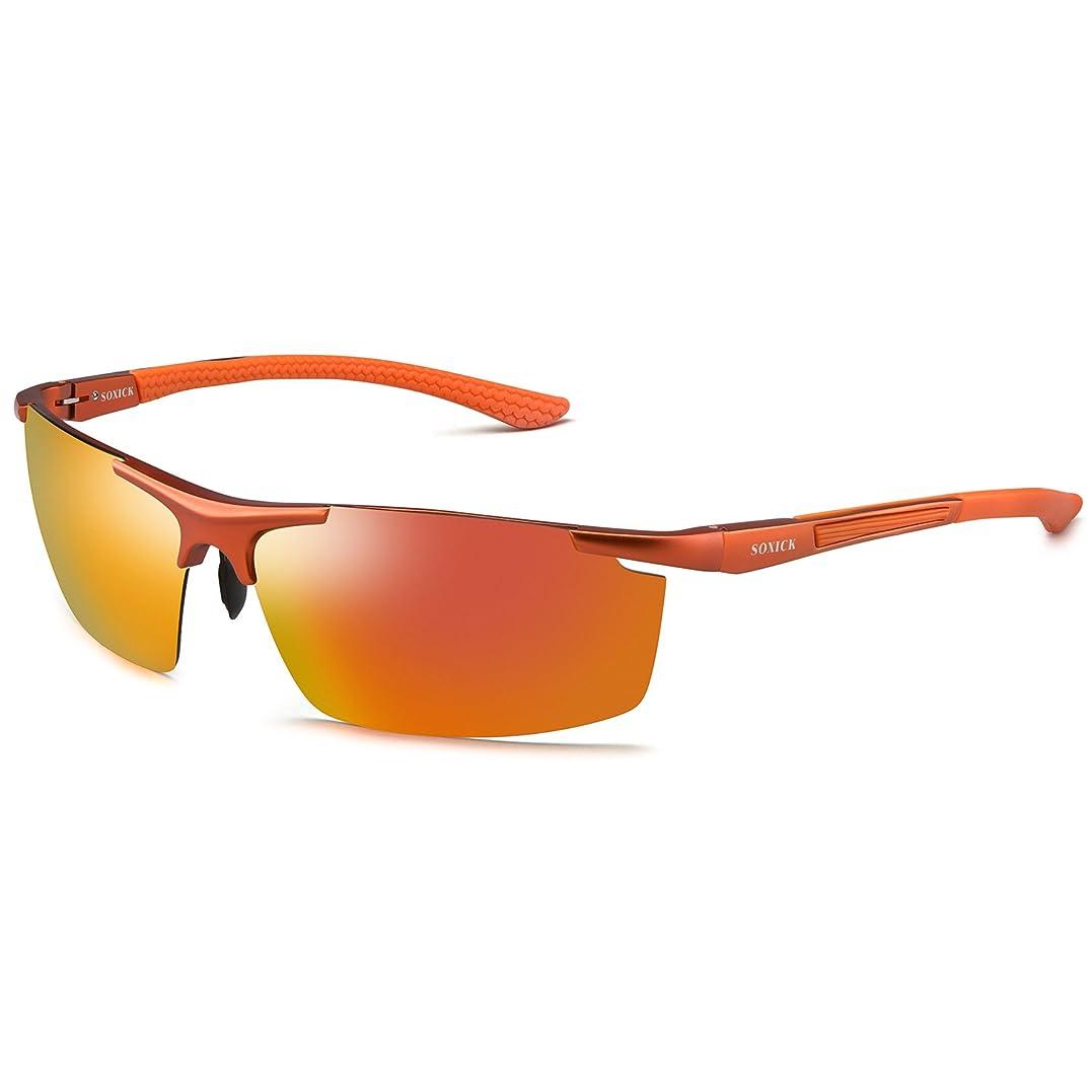 おばさん隠された希少性偏光レンズ UV400カット サングラス メンズ ファッション AL-MGフレーム 超軽量サングラス