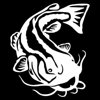 Express Yourself Products Flathead Catfish Wall Decal (White - Facing as Shown - XL) - Freshwater Fish Collection