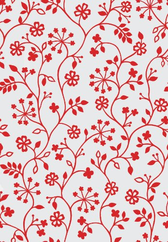 DC Fix Winters Garden Red Static Cling Window Film