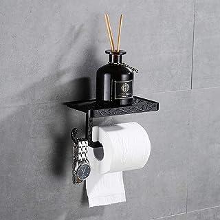 Gricol Porte Rouleau de Papier Toilette Hygiénique avec Etagère de Téléphone Portable Support Mural pour Salle de Bains St...