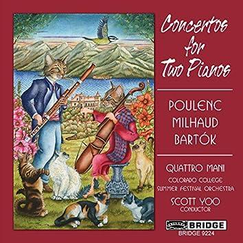 Poulenc, Milhaud & Bartók: Concertos for 2 Pianos