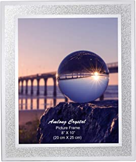 Amlong Crystal Sparkle Mirror Glass Picture Frames 8x10