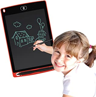 Corelink LCD Writing Tablet 8.5-inch Digital Drawing Pad Paperless Note Board Portable Durable Doodle Whiteboard for Kids and Adult (Red)