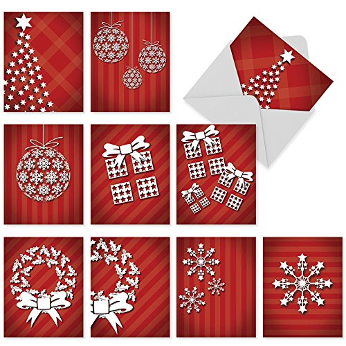 M6011 HOLIDAY DIMENSIONS: 10 Assorted Blank Note Cards w/Matching Envelopes.: 10 Assorted Blank All Occasions Cards With Envelopes.