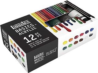 Conjunto de 5 Tubos de tinta acrilica LIQUITEX BASICS, 1, Multicor, 12 x 22 ml