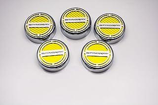 4 Piece Carbon Fiber Executive Series Automatic Cf American Car Craft 273042-ORG Orange Cap Cover Set