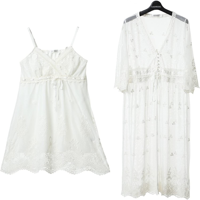 Sexy Nightdress Pajama Woman Twopiece Set Housecoat