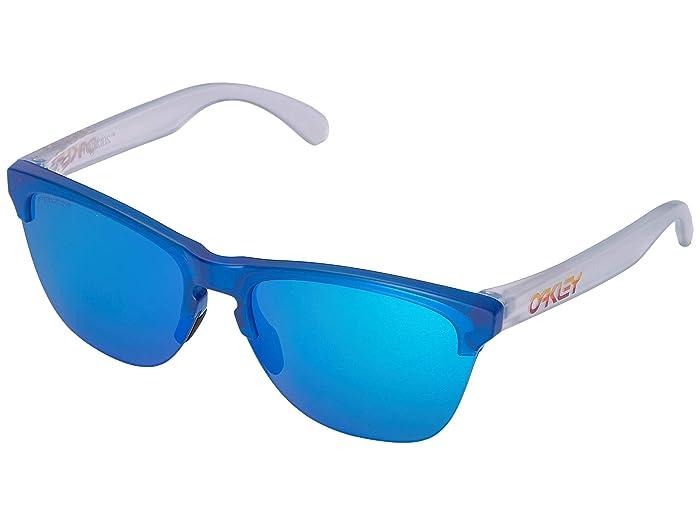 Oakley Frogskins Lite (Matte Trans Sapphire w/ Prizm Sapphire) Athletic Performance Sport Sunglasses