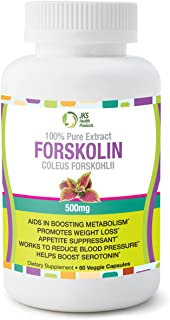 Pure 500 milligram Coleus Forskolin Extract-Belly Busters for Weight Loss-Antioxidant-Boosts Energy-Great for Men/Women- Standardized at 20 percent -60 Veggie Capsules