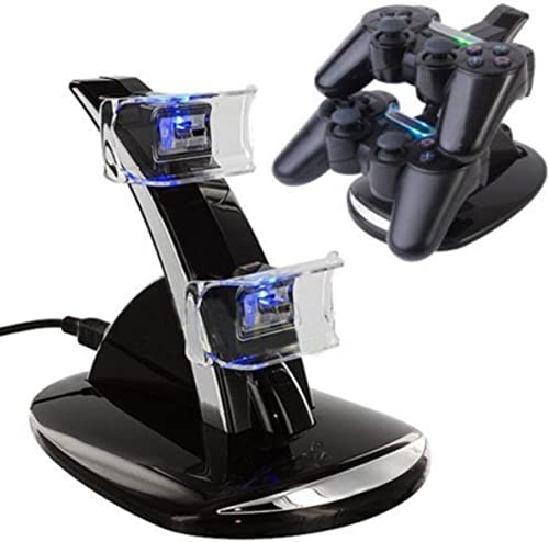24x7 eMall LED Charger Dock Station Dual USB Fast Charging Stand for PS4 Controller
