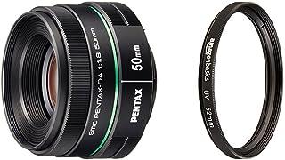 Pentax DA 50mm f1.8 lens for Pentax DSLR Cameras with AmazonBasics UV Protection Lens Filter - 52 mm