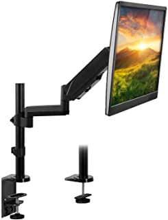 Mount-It! Single Monitor Arm Desk Mount | Articulating Gas Spring Computer Monitor Arm Height Adjustable | Desk Mounted Si...